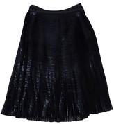 Ohne Titel Black Faux Leather Midi Skirt