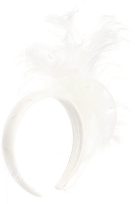 Stephen Jones Feather And Sinamay-trim Satin Headband - Ivory