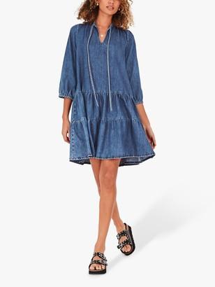Hush Fernie Smock Denim Dress, Blue