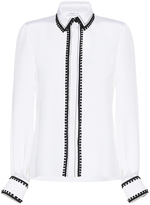 Andrew Gn Pom Pom Silk Button-Up Shirt