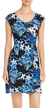 Tommy Bahama Floraiana Printed Cap-Sleeve Dress