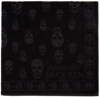 Alexander McQueen Black Skull Beach Towel