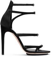 Calvin Klein Suede Multi Strap Stiletto Sandal