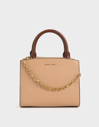 Charles & Keith Chain-Link Top Handle Bag