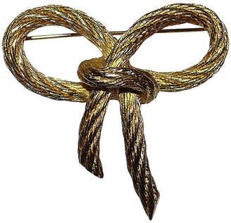 One Kings Lane Vintage Christian Dior Rope Bow Pin - Treasure Trove NYC