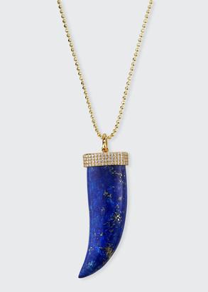 """Sydney Evan 14k Lapis Horn & Diamond Pendant Necklace, 30""""L"""