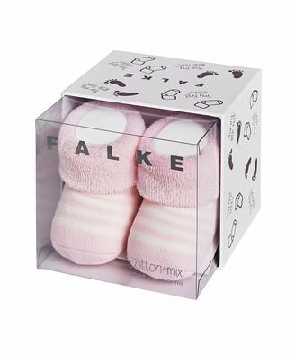 Falke Kids Erstlingsringel socks 1 pair UK size 0-1 month (EU 50-56) Pink cotton mix - Multi usage soft and warm full terry