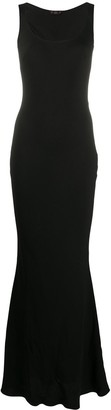 John Galliano Pre Owned Scoop Neck Evening Dress