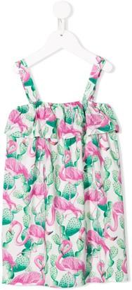 Mc2 Saint Barth Kids Flamingo Print Dress