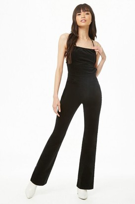 Forever 21 Lace-Up Corduroy Jumpsuit