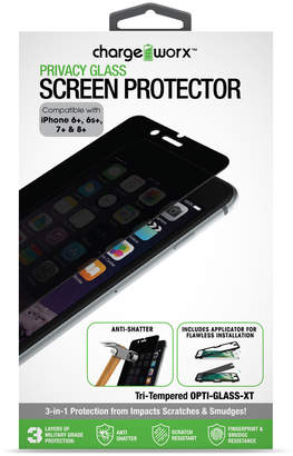 Chargeworx iPhone 7 Plus Tempered Glass Privacy Screen
