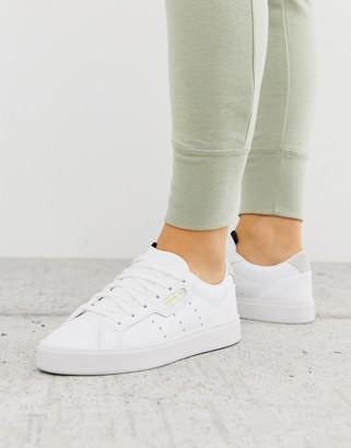 adidas Super Sleek sneakers in white