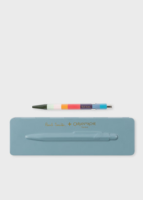 Paul Smith Caran d'Ache + 849 'Artist Stripe' Ballpoint Pen With Petrol Blue Case