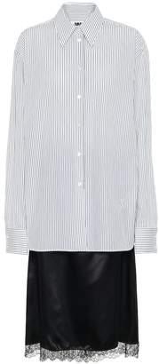 MM6 MAISON MARGIELA Striped cotton-blend dress