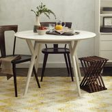 west elm Mid-Century Round Dining Table - White