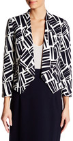 Nine West Printed Flyaway Blazer