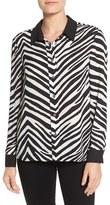 Vince Camuto Women's Zebra Stripe Long Sleeve Blouse