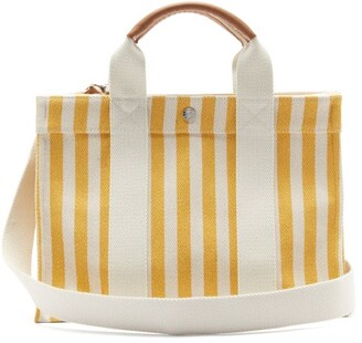 Rue De Verneuil - Palais Royal Striped Canvas Tote Bag - Yellow Multi
