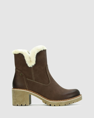 Los Cabos - Women's Brown Heeled Boots - Elina - Size One Size, 40 at The Iconic