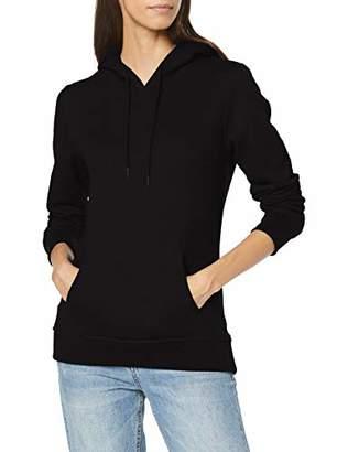 Build Your Brand Women's Ladies Heavy Hoody Jacket, (Black 00007), XXX-Large