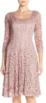 Chetta B Sequin Lace Fit & Flare Dress