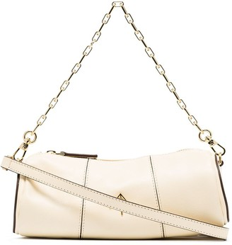 MANU Atelier Mini Cylinder Logo Plaque Shoulder Bag