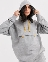 Monki front pocket hoodie in grey