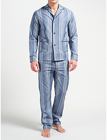 Paul Smith Signature Stripe Cotton Pyjamas, Blue