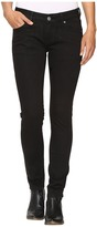 Rock and Roll Cowgirl Low Rise Skinny Jeans in Black W0S9631
