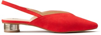 La Redoute Collections Pointed Ballet Pumps with Round Heel