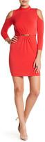 Jessica Simpson Cut Out Shoulder Sheath Dress
