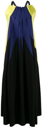 Issey Miyake Pre-Owned '2000s pleated maxi dress