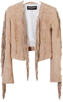 Balmain Beige Leather Jacket
