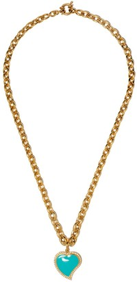Nevernot 18kt Gold Diamond Heart Pendant Necklace