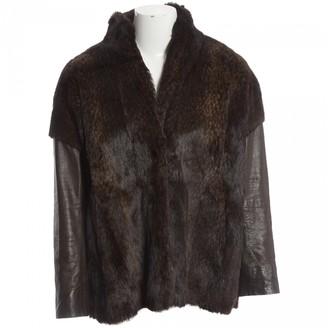 Karl Donoghue Brown Rabbit Jacket for Women
