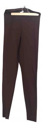 Wolford Brown Polyester Trousers