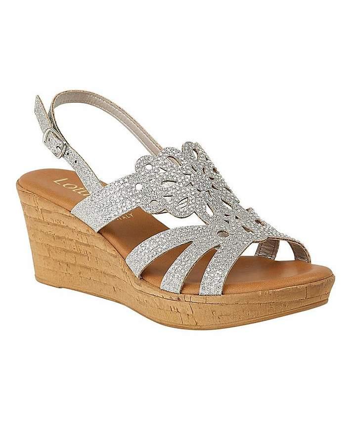 215cc634bac Ludisa Sling-Back Wedge Sandals