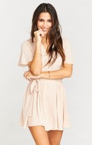 MUMU Whitney Wrap ~ Dusty Blush Crisp