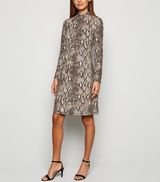New Look Mela Snake Print Dress