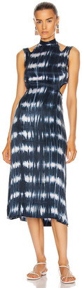 Dion Lee Shibori Tie Dress in Indigo | FWRD