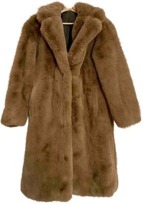 MANGO Brown Faux fur Coat for Women