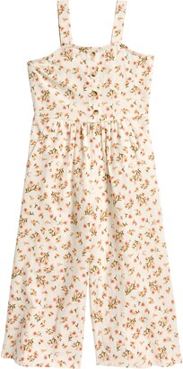 Billabong Kids' Floral Wide Leg Overalls