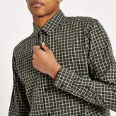 Mens Only and Sons Tony dark Green check shirt