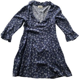 AUGUSTE Blue Cotton Dress for Women