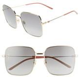 Gucci 60mm Gradient Square Sunglasses