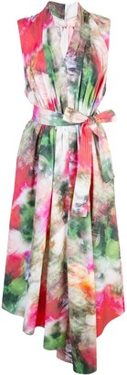Adam Lippes Asymmetric Floral Print Dress