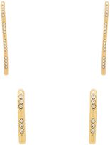 Luv Aj Scattered Pave Hook Earrings
