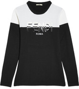 Fendi Appliquéd Wool Sweater - Black