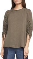 BCBGMAXAZRIA Kendalin Shirred-Sleeve Top