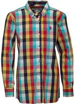 U.S. Polo Assn. Boys Knoll Shirt Tango Red